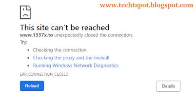 Top 5 Best Free Proxy VPN Sites List error page