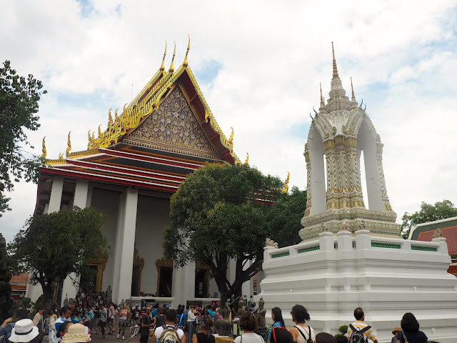 Buildings in the Wat Pho temple complex, Bangkok, Thailand