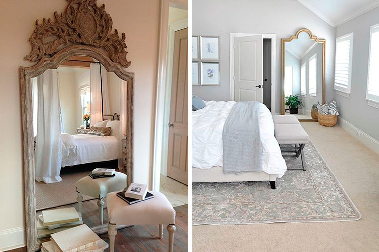 Marzua c mo decorar con espejos apoyados en el suelo for Espejo horizontal salon