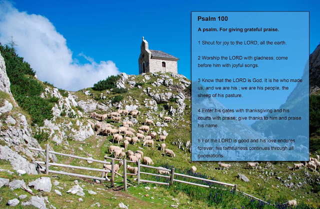 Photo Of The Saints Cyril and Methodius Chapel - Molič Mountain Pasture - Kamnik-Savinja Alps, Slovenia With Psalm 100:1-5