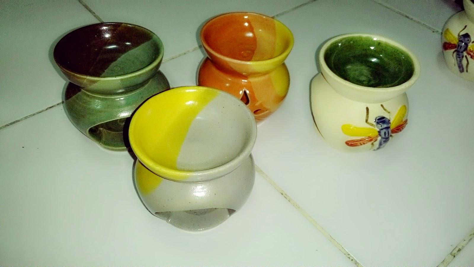 Candle holder ceramic burner aromatherapy