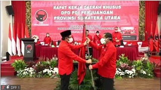 Rapidin Simbolon Ditunjuk Jadi Ketua DPD PDI Perjuangan Sumut Gantikan Djarot Saiful Hidayat