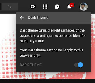 Enable dark theme on YouTube desktop