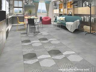 Digital Floor Tiles | Digital GVT Tiles | digital glosy floor tiles