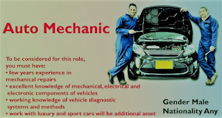 ITI/ Diploma Candidates Urgent Requirements For Mechanic Passenger Vehicles in Automobile Service Center in DRC, Africa