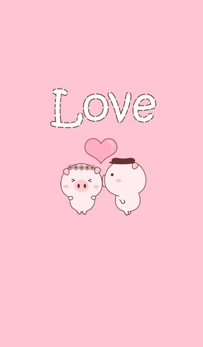 Pig Pink Love Love