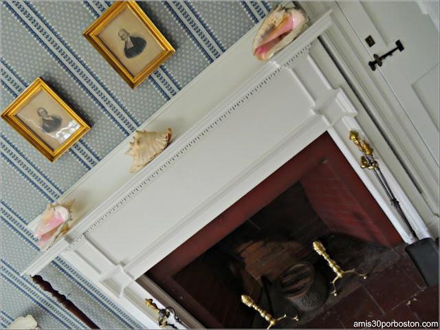 Chimenea del Dormitorio de Elizabeth en la Mansión Ropes, Salem