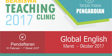 Beasiswa Teaching Clinic 2017 Tanpa Masa Pengabdian