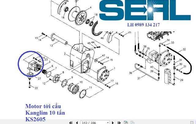 Motor thuỷ lực tời cẩu Kanglim 10 tấn KS2605-S1036164R1-AA10VME