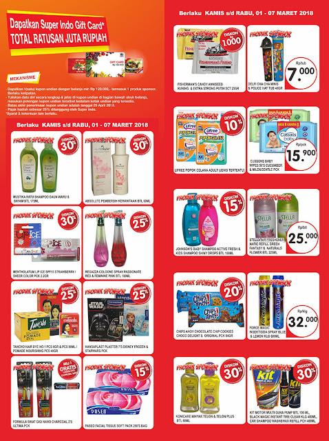 Katalog SUPER INDO Promo SUPERINDO Terbaru Periode 01 - 07 Maret 2018