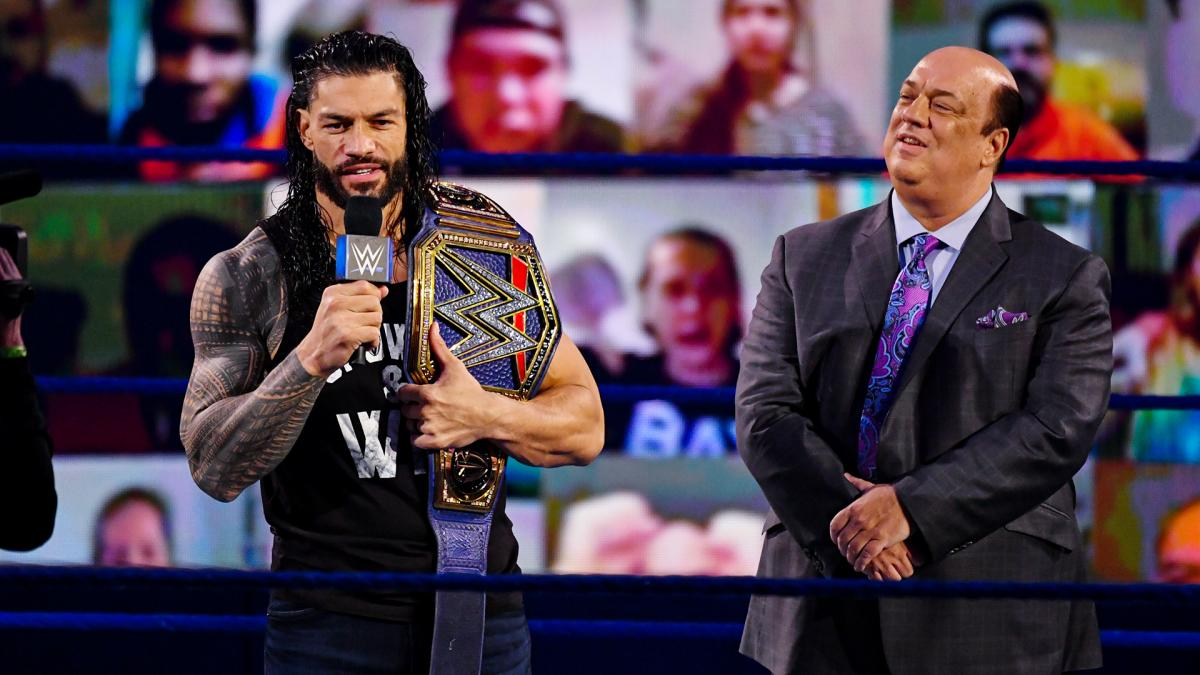 Roman Reigns and Paul Heyman on WWE SmackDown Live