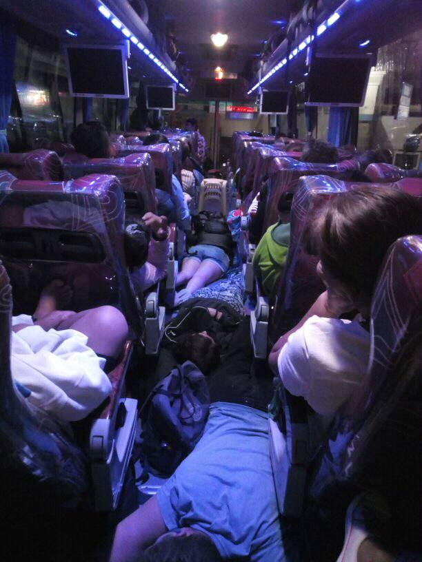 LTFRB imposes 'No Standing Policy' in buses, passengers sleep on the aisle