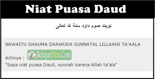 Bacaan Lafal Doa Niat Puasa Daud Sesuai Sunnah Dalam Bahasa Arab Latin dan Indonesia