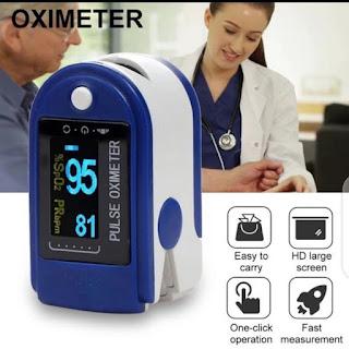 Fingertrip Pulse Oxymeter / Alat Pengukur Kadar Oksigen Detak Jantung