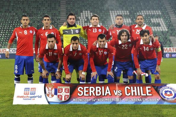 Formación de Chile ante Serbia, amistoso disputado el 14 de noviembre de 2012