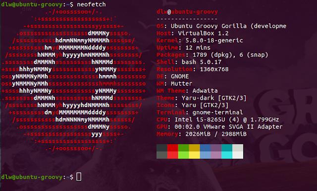 Ubuntu 20.10 Groovy Gorilla - Kernel 5.8 e alguns recursos - Dicas Linux e Windows