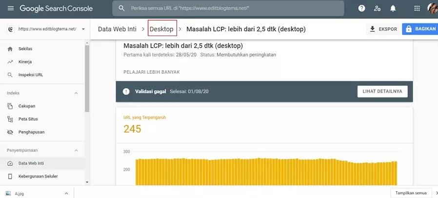 loading halaman desktop editblogtema masih butuh peningkatan