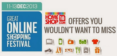 Great Online Shopping Festival: Get Exciting  Discount Offer on All Products at HomeShop18