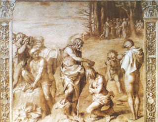 Part of Del Sarto's fresco series at the Villa Medici at Poggio a Caiano, near Florence