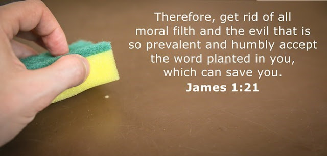 Therefore, get rid of all moral filth and the evil that is so prevalent and humbly accept the word planted in you, which can save you.
