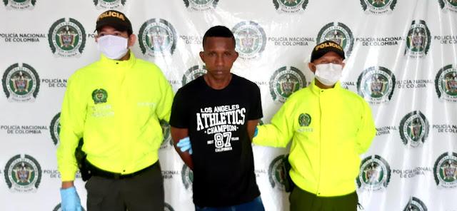 Capturado 'El Negreo Cartagena' por homicidio en Valledupar
