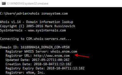 Búsqueda WHOIS - Registrar del dominio personalizado de Blogger.