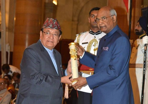 Dr Ruit accepting Padma Shri Award by Government of India – 2018