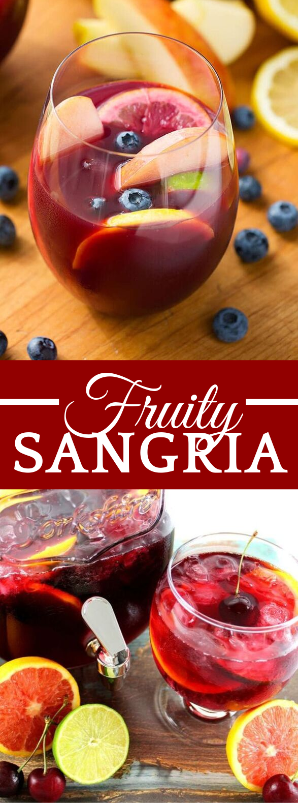 FRUITY SANGRIA RECIPE #drinks #punch