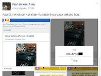 Awas!!! Modus Penipuan Penjualan Meja Sablon di Internet, Teliti Sebelum Membeli!
