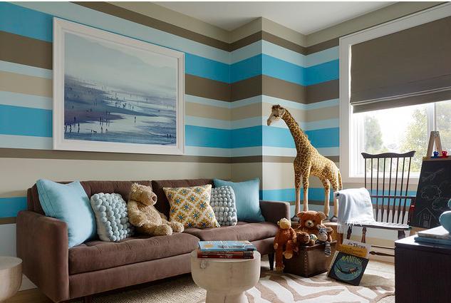 Dekorasi Cara Mengecat Stripes Pada Dinding Rumah