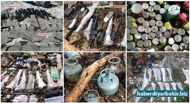 DİYARBAKIR-Diyarbakır'ın Lice ilçesinde düzenlenen operasyonda 11 sığınak ve bir barınakta çok sayıda silah, mühimmat, el yapımı patlayıcı düzeneği ile 115 kilogram esrar ele geçirildi.