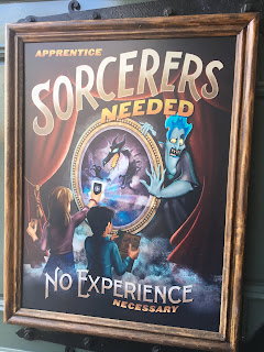 Sorcerers Needed Magic Kingdom Poster Disney World