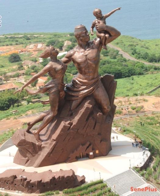 Art, statue, culture, famille, renaissance, monument, musée, président, wade, LEUKSENEGAL, Sénégal, Afrique