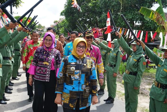 Tim Provinsi Lakukan Verifikasi Penilaian Lomba BBGRM Desa Marga Jasa Mewakili Lamsel.