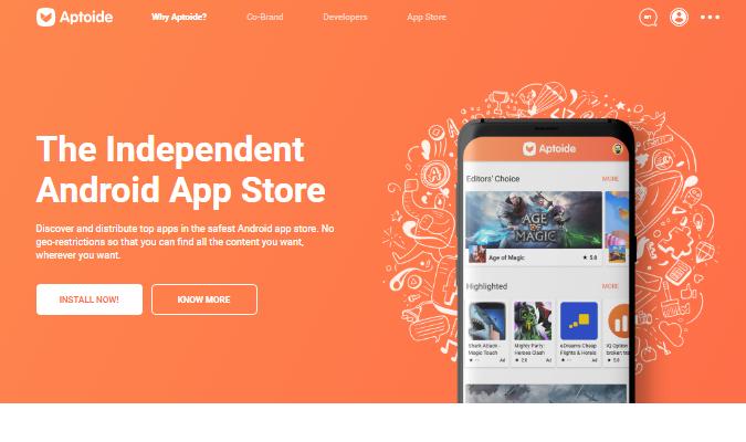 Situs Terbaik Untuk Download Aplikasi Premium - Aptoide