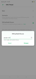 Setting DNS Android yang menggunakan GSM