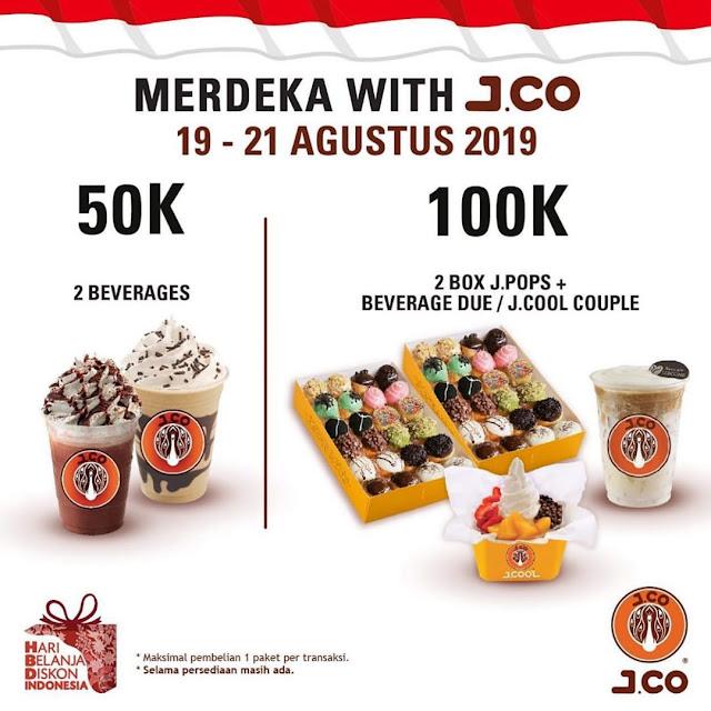 #JCO - #Promo Merdeka 50K atau 100K (19 - 21 Agustus 2019)