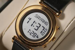 jam tangan solat dan arah kiblat