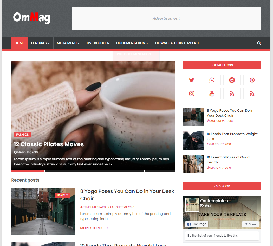 Ommag Blogger Template
