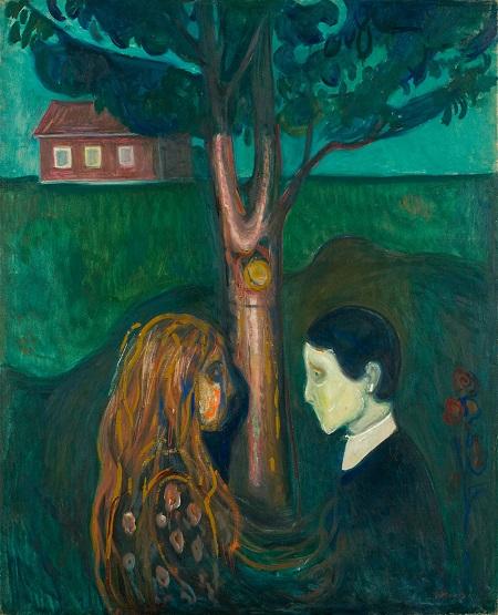 "Edvard Munch, ""Eye in Eye"", 1899-1900 | imagenes obras de arte tristes, bellas, pinturas, cuadros, art pictures inspiration, cool stuff."