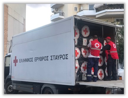 Αποστολή βοήθειας στην Αλβανία από τον Ελληνικό Ερυθρό Σταυρό