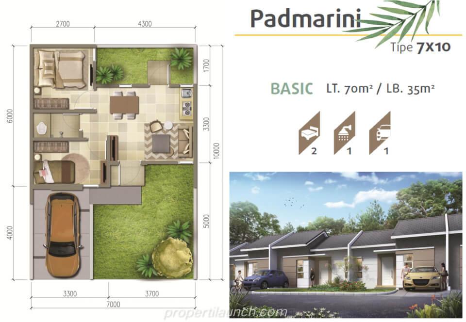 Denah Rumah Srimaya Residence Tipe L7