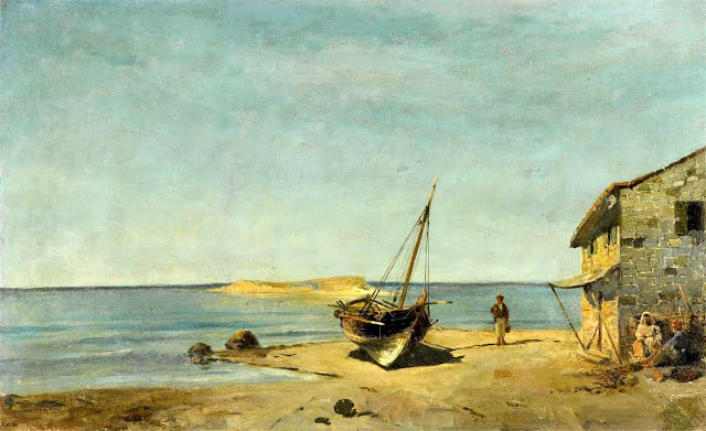 The Fisherman's Home On The Beach-K.Volanakis