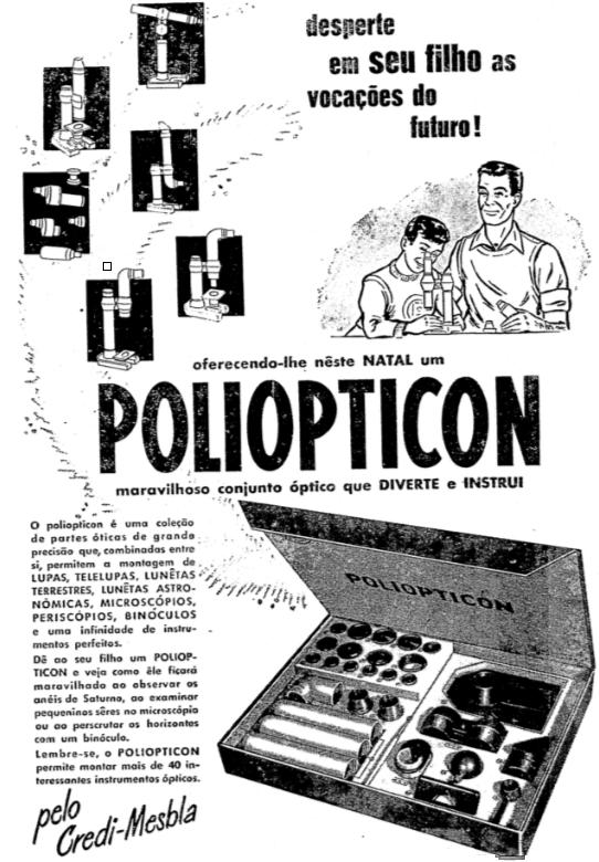 Propaganda antiga do conjunto óptico de lentes microscópicas, lunetas e lupas para fins da educação de crianças