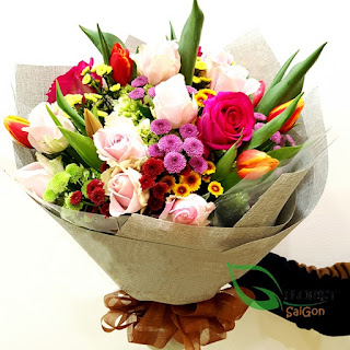 Bouquet of tulips delivered Saigon