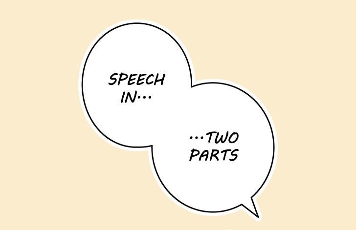 Manga split speech bubble