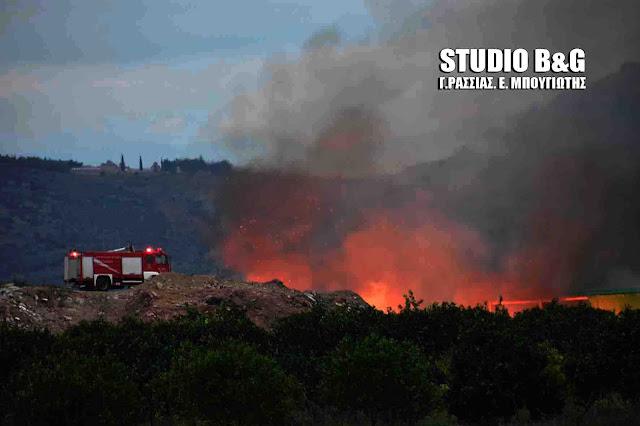 Άμεση αντίδραση από τον Δήμο Άργους Μυκηνών για πυρκαγιά τα ξημερώματα σε χωματερή (βίντεο)