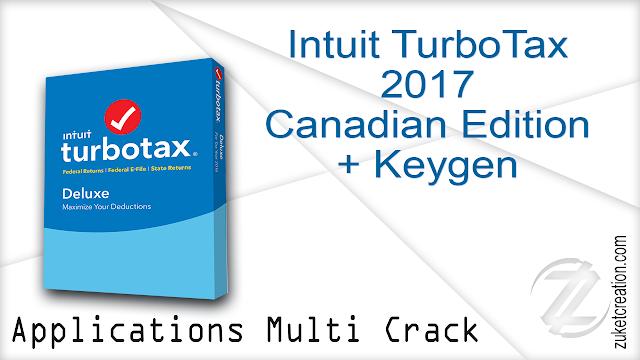 Intuit TurboTax 2017 Canadian Edition + Keygen