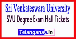Sri Venkateswara University SVU Degree Exam Hall Tickets 2017
