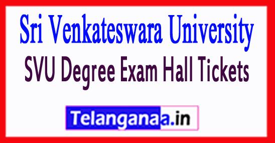 Sri Venkateswara University SVU Degree Exam Hall Tickets
